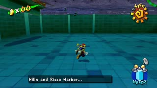 Super Mario Sunshine - Walking Underwater Glitch