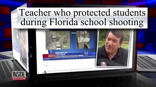 FL Teacher Hailed a Hero During Parkland Shooting Is Called a 'Coward' - Video