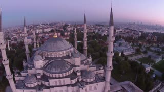Drone crash into Blue Mosque, Istanbul, Turkey - Video