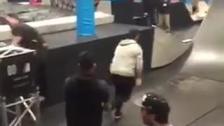 Guy trying to climb ramp falls down