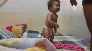 Play funny with father