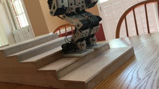Humanoid robot flawlessly walks down stairs - Video