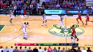 WTF! James Harden Does CHASEDOWN Block, Giannis Antjfdklsjfslpo Throws Down SUPERMAN Slam - Video