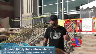 Joey Gibson Speaks At Ammon Bundy Rally In Boise Idaho About Standing Up