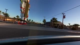 Baker California and UFO Hotel Driving 7AM