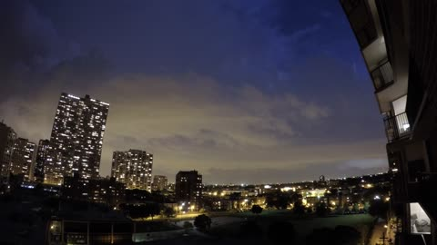 Time lapse: Rolling lightning storm travels over Chicago