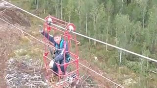 Having Fun on the Power Lines - Video
