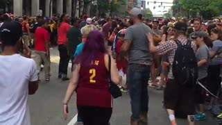 Cavs Fan Eats Police Horse Poop During Championship Parade - Video