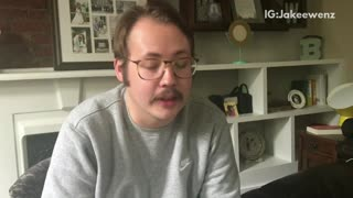 Glasses mustache guy messes with scammer on telephone - Video