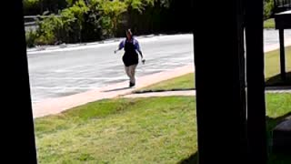 Dancing Lady almost fall - Video