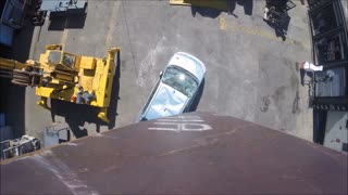 Megabots Dropping a Giant Knife on a Car - Video
