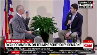 Speaker Ryan: Trump's 'S**thole' Comments Were 'Very Unfortunate, Unhelpful' - Video
