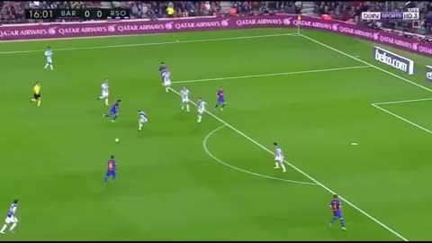 Leo Messi super goal vs Real Sociedad