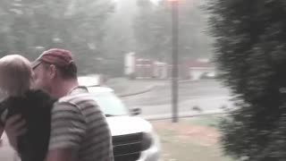Baby Experience In Rain - Video