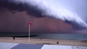 Incredible footage of approaching storm in Belgium - Video