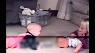 Cute Toddler Giggles Every Time His Sister Hits The Baby-Doll - Video