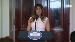 First Lady Melania Trump Remarks at the Governors' Spouses' Luncheon, Speaks on HS Shooting - Video