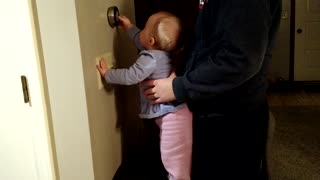 Baby helps adjust house temperature - Video