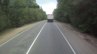 Impatient Driver vs Semi Truck - Video
