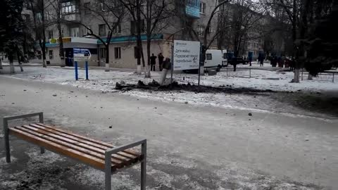 Kramatorsk Shelled With Russian Cassette Missiles BM-30 Smerch