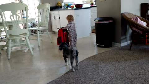 Toddler is ready to leave
