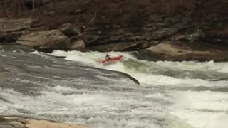 Kayaking Cumberland Falls - Video