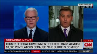 Jim Acosta back-handed compliment to Trump