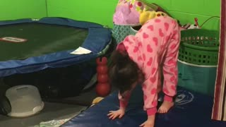 Little Girl Gives Her Expert Junior Advice For Beginner Gymnasts - Video