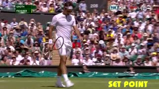 Federer vs Groth - Round 3 - Wimbledon 2015 - Video