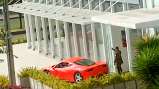 Tough Time Parking A Ferrari - Video