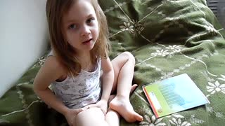 Daughter learning English  - Video