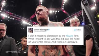 Conor McGregor Calls Out Brock Lesnar & The Rest of WWE - Video