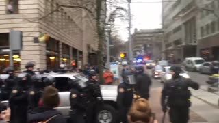 Portland Police Crack Down On Protesters With Fantastic Take Down - Video