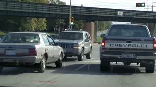 Idiot Driving Backwards. - Video