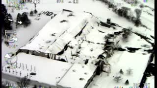 Snow causes massive roof collapse in Erie County - Video