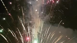 Fireworks Barge Catches Fire Mid Display - Video