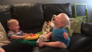 Laugh with baby - Video