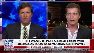 Tucker calls out liberal lecturer for wanting to stack SCOTUS - Video
