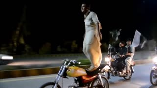 Pathan Ride Bike With stunts 2017  - Video