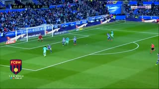 El gol de Suárez (Doblete) vs Alaves - Video