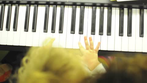 21-month-old baby playing the piano!