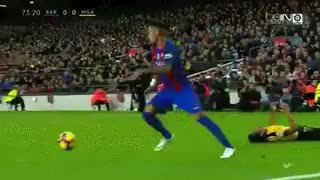 Neymar JR fantastic skills today vs Malaga