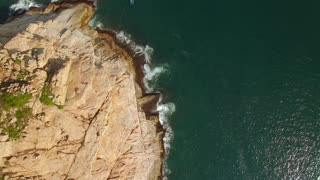Island cliff aerial view nature landscape