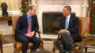 Prince William meets Obama - Video