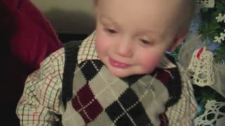 Adorable Baby's New Spin On Deck The Halls - Video