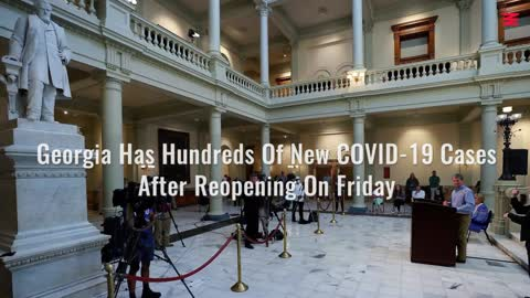 Georgia Has Hundreds Of New COVID-19 Cases After Reopening On Friday