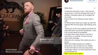 Conor McGregor Opens Up About Nate Diaz Upset - Video