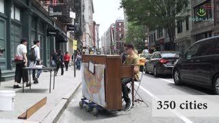 Traveling Piano Man Finds The Key To Life! - Video