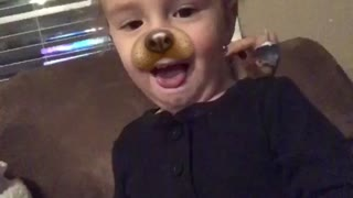 Baby to quick for Snapchat filter  - Video
