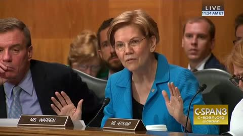 Watch Liz Warren yell at Trump nominee for being in the Trump administration